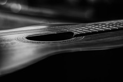 Art in the Instrument #4 (KWPashuk) Tags: nikon d200 nikkor50mmf18 kwpashuk kevinpashuk lightroom nikcollection music guitar yamaha classical acoustic monochrome instrument mono