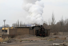 I_B_IMG_8229 (florian_grupp) Tags: asia china steam train railway railroad bayin lanzhou gansu desert landscape loess mountains sy ore mine 282 mikado steamlocomotive locomotive
