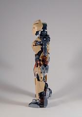 MOV - M'azzal - Side (0nuku) Tags: bionicle lego toa sand fire stone banserko mazzal scythe gunblade hau komau