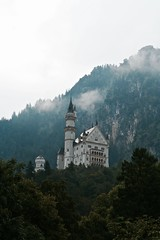 Living a Foggy Fairytale (Wyrd.lon-deis) Tags: schloss chteau castle germany neuschwanstein landscape mountain bavaria nature montagne adventure architecture explore sky paysage photography flowers forest fort bayern bavire fog foggy brume summer fairytale magical