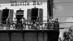 Whistle Bar (Pacific Lime (Catching Up!)) Tags: blackandwhite bw florida candid balcony tourists keywest blacknwhite whistlebar