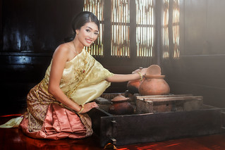 Female in Thailand traditional dress