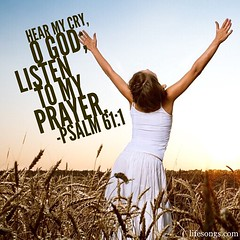 "LifeSongs Uplifting Word: ""Hear my cry, O God; listen to my prayer."" - Psalm 61:1  #Bible #BibleVerse #quotes #inspirational #positive #uplifting #pray #praise #God #Christian #gospel #field #sky #LifeSongsFM #GodIsGoodAllTheTime"