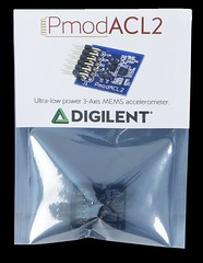 PmodACL2: 3-axis MEMS Accelerometer (Digilent, Inc.) Tags: analog hardware student chip data resolution professor electronic maker current devices hobbyist protocol spi mems accelerometer communicating acceleration 3axis digilent acl2 pmod pmodacl2