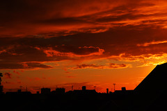 Fire in the sky (Anders Nordquist) Tags: sunset red sky silhouette clouds canoneos7d sigma1750mmf28