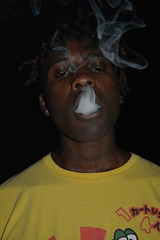'The Night Show' (miranda.valenti12) Tags: the night show xzavier smoke smoking weed pothead yellow darkness dark color colors inhale exhale cloudy cloud clouds frenchinhale face facial expression closeup portrait nightime outside outdoors outdoor
