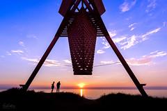 Blokhus Sea Mark (Curtski22) Tags: blokhus denmark light ocean sea seaside shore silhouette sunset water