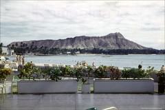 Royal Hawaiian Diamond Head 1959 (Kamaaina56) Tags: 1950s waikiki hawaii royalhawaiian beach slide