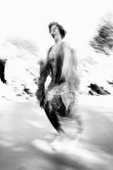 flapper (zzra) Tags: dancer black white bw motion blur fuji xt1