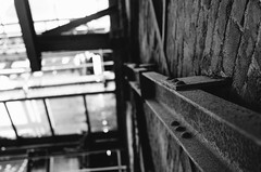 The Old Factory (Stefan Baudach) Tags: world old white black heritage industry monochrome 35mm lost mono site nikon factory place alt fabrik grain htte nikkor industrie schwarz verlassen weltkulturerbe vlklingen weis industriekultur schwarzweis vlklinger fabrikgebude vsco