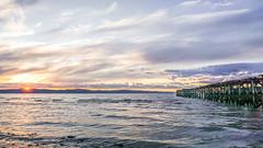 sunset in Ranheim (krllx) Tags: europe midtnorge norge norway scandinavia trondheim trndelag abandoned clouds decayed europa landscape light lights pier ranheim reflections skandinavia solnedgang sundown sunset water 20160710dsc01419201607101 atmosphere