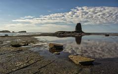 Saltwick bay (shellyparente) Tags: england sky seascape beach clouds landscape outdoor yorkshire
