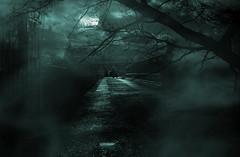 Moonlit Walk.. (Philip R Jones) Tags: moon composite photoshop walk spooky midnight