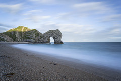 Durdle Door (mg photography2) Tags: durdle door dorset jurassic coast england uk blue clouds cloudscape arch sea water long exposure beach seashore seascape landscape canon travel tourism