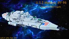 USS Medusa IFF 96 (JBIronWorks) Tags: us ship lego space awesome micro scifi frigate starship nearfuture ussmedusa