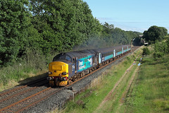 37423 Park South 16th July 2016 (John Eyres) Tags: 37423 pulling away from park south with 2c47 1732 barrowinfurness carlisle 160716