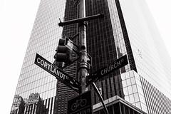 Cortlandt Street (Alexander Pellegrin) Tags: newyorkcity newyork photography streetphotography wtc monocrome