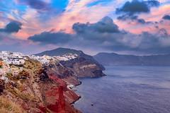 Santorini sunset colors (Vasilis Tsikkinis) Tags: santorini greece thira oia cyclades sunset caldera