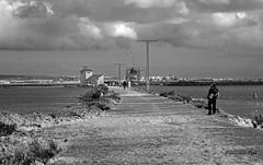 Espuma de sal (Fotgrafo-robby25) Tags: byn espumasdesal fujifilmxt1 gente marmenor nubes peque salinasyarenalesdesanpedrodelpinatar tendidoselctricos