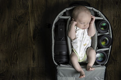 What's in my bag (davejdoe) Tags: newborn camera bag baby