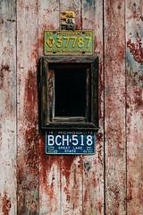 1959 to 1973 (Marty Hogan) Tags: northrd neartoivolamichigan houghtoncounty garage licenseplates