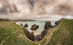 Garry Beach clifftop panorama (The Unexplored) Tags: hdr panorama lightroom photoshop photomatix topaz adjust nikon sigma 816mm garry beach sands seashore isleoflewis outerhebrides scotland grimgit thegrimgit unexplored theunexplored seaside nature natural