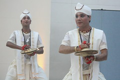 Mujali Island Monks (2016) 19 - dancers (KM's Live Music shots) Tags: worldmusic india mujaliislandmonks bhortaal taal cymbals dancers britishmuseum