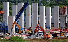 Mersey Gateway Project ( Southern approach viaduct  Astmoor / Bridgewater Junction Runcorn) 27th July 2016 (Cassini2008) Tags: merseygatewayproject merseylink construction runcorn