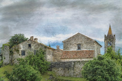 SL090616 Hum 03 (Sh4un65_Artistry) Tags: artwork buildings churches croatia croatiaholiday2016 digitalart digitalpainting events landscape painteffect paintedphoto painterly places textured topaz topazimpression topaztextureeffects hum istria