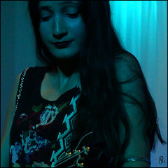 Taimane in Blue (steeedm) Tags: taimane taimanegardner osqa liverpool ukulele hawaii blue