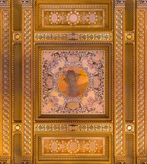 Library of Congress Pano  #4 (josullivan.59) Tags: wallpaper 3exp travel texture yellow usa unitedstates interior orange panorama pattern artisitic architecture architectural day detail dc disctrictofcolumbia gold historical history june canon6d canonef24105mmf4lisusm ceiling guilded libraryofcongress 2016
