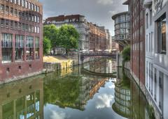 Hamburg City (PLADIR) Tags: panasonic fz1000 architektur architecture wasser spiegelung mirror brcke hdr sky hamburg outdoor stadt city bridge
