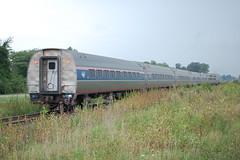 Amtrak's Cardinal Enroute to Chicago (roadmaven) Tags: amtrak cardinal lizton indiana