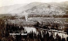 Warland, Montana (Postmarks from Montana) Tags: montana warland lincolncounty picturepostcard kootenairiver greatnorthernrailway
