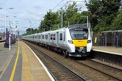 GTR Thameslink Siemens Class 700 700115 on test passing south through Flitwick (Mark Bowerbank) Tags: gtr thameslink siemens class 700 700115 test passing south through flitwick