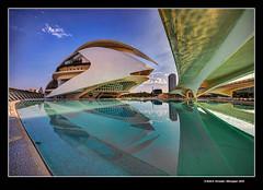 Palau de les Arts (Art Hall) Ciutat de les Arts i de les Cincies, Valncia, Spain (Rafel Ferrandis) Tags: cac valncia reflex hdr granangular eos5dmkii ef1124mml