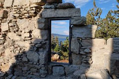 Old window (anyasuzdal) Tags: lake bigbear stones antiquity nature window pines