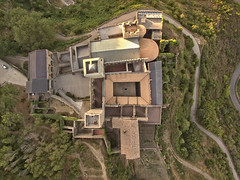 Game of drones (Sant Pere de Rodes) (Santini1972) Tags: dron drone catalonia phantom aerial green trees paths architecture monastery convent medieval dji