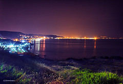 Crotone, notte di fine estate. (Giuseppe_Cer) Tags: canon eos 60d panorama crotone calabria mare luci baia citt