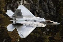 Low level raptor (Dafydd RJ Phillips) Tags: lockheed martin raptor f22 united states usaf combat jet fighter wales snowdonia lakenheath america usa air force base afb tyndal