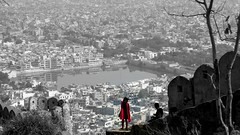 Once a Pink City. (I m Peace) Tags: jaipur rajasthan india amer girl cityscape dupatta