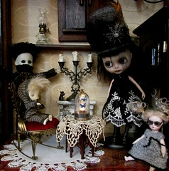 The Gathering (SJB Dolls) Tags: spooky dolls blythe myling art custom livingdeaddoll