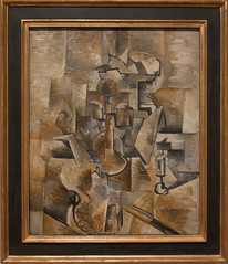 Georges Braque, Nature Morte (Violon et Compotier), also titled Still Life (Violin and Candlestick), 1910 (Sharon Mollerus) Tags: sanfranciscomuseumofmodernart sanfrancisco california unitedstates
