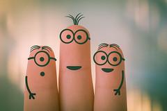 #ThreeOfAKind (gian_tg) Tags: minions fun humour fingers threeofakind flickrfriday 7dwf