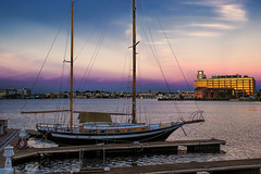 Early Morning Ketch (Tim Pohlhaus) Tags: fells point baltimore city harbor patapsco river maryland saiboat morning ketcht
