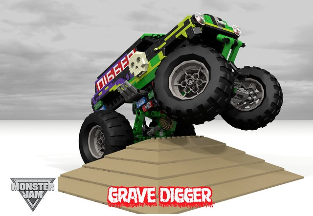auto usa chevrolet grave car monster america truck model panel lego render feld entertainment chevy rush van tnt fools jam 90 challenge 1950 v8 digger mania cad lugnuts povray chev moc ldd foolsrushin miniland lego911