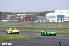 Porsche 911 GT3 + McLaren 650S Prestwick 2015 (seifracing) Tags: rescue cars st race honda mercedes scotland andrews nissan ferrari hospice voiture vehicles event mclaren porsche emergency runway spotting recovery strathclyde prestwick ecosse seifracing