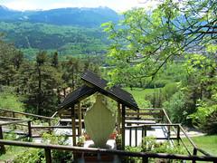 Santuario Madonna della Grotta  Oulx (Hana_boema) Tags: italy panorama madonna paesaggio grotta santuario oulx dispalle valledisusa hanaboema grottadellabaume madonnadellagrottaoulx