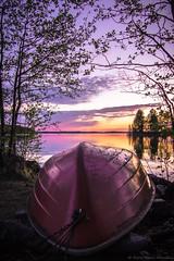 Boat at sunset (Eero Mäki-Mantila) Tags: sunset suomi finland boat kukkola pälkäne
