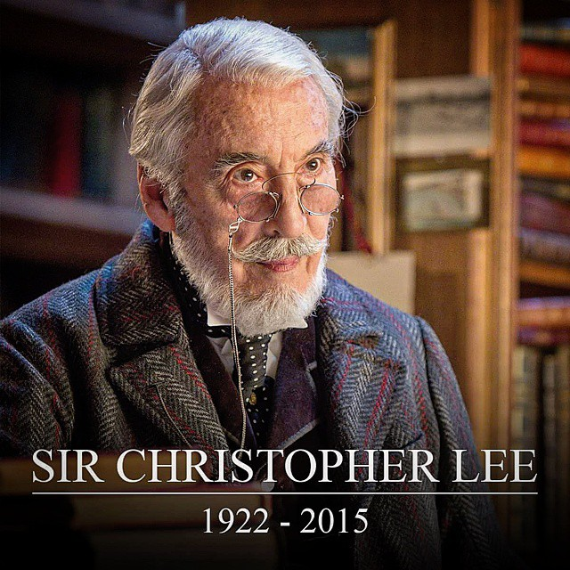 92 years old Epicness,  RIP Sir Christopher Lee:  Enjoy watching his acting for the following films;   - The Lord of the Rings as Saruman  - Star Wars Episode II & III as COUNT DOOKU / Darth Tyranus - Star Wars: The Clone Wars as  COUNT DOOKU / Darth Tyra